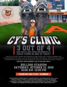 Cy Palmer Inaugural Car Seat Clinic (Artesia) @ Artesia Bulldog Stadium